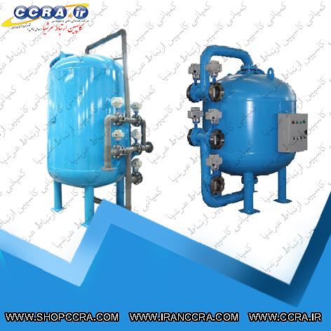 فیلتر شنی در دستگاه تصفیه آب صنعتی