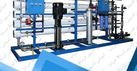 دستگاه تصفیه آب صنعتی اسمز معکوس 750 متر مکعب